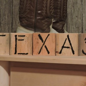 TEXAS Western Natural Wood Shelf Blocks
