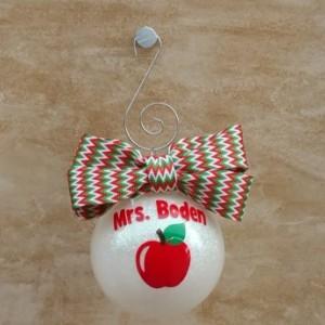 Glitter teacher ornament, teacher Christmas ornament, teacher gift, holiday decor, Christmas decor, tree trimming, Christmas decorations