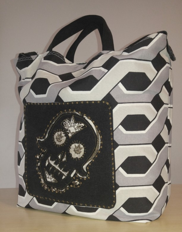 Sugar Skull Shopping Tote