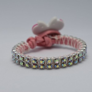 Minnie Sparkling Suede Bracelet Kids