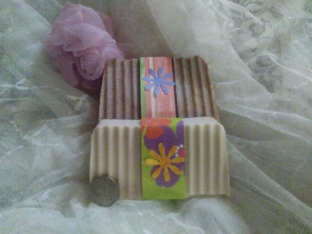 FREE SHIP 2 Large 6 oz Bar Set of Handmade Lye soap in Goatsmilk Plain and Oatmeal