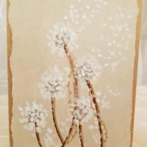 Hand-painted Dandelion Blank Notecards, 5-Pack