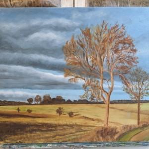 Fall Farmland Painting