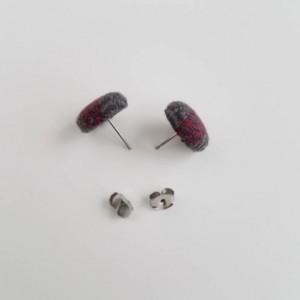 Wrap Scrap Jewelry - Earrings - Girasol - Shadows of a Rainbow - Wrap Scrap - Stainless Steel - Post Earrings - Button Earrings