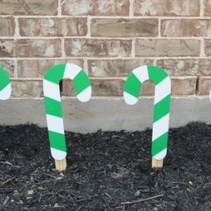 Candy Cane Yard Art, Wooden Candy Canes, Christmas Yard Art, Christmas Yard Decor