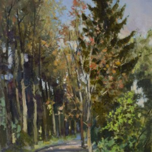 Landscape by Bogdan Goloyad 30x17 sm oil on paper (karton)