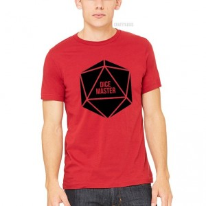 Dice Master Unisex Shirt - Perfect for any table top gamer, dungeoneer, or those just fans of 20-sided dice