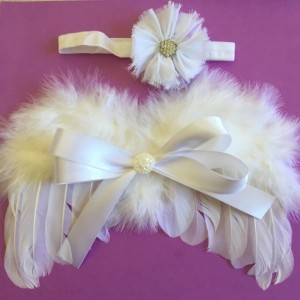 White Feather Angel Wing And headband