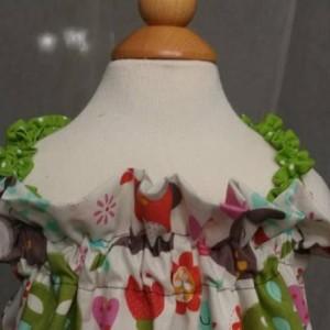 Owl Print  Dress 3T