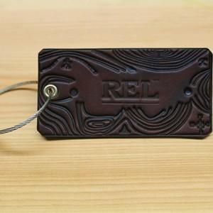 Topo Tag -- Custom Leather Luggage Tag