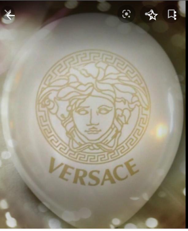 White Versace Balloon