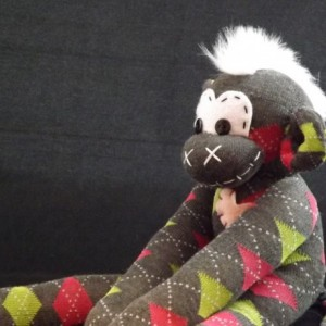 Sock monkey : Emily ~ The original handmade plush animal made by Chiki Monkeys
