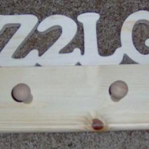 Ham Radio Call Sign Wooden Coat Rack. Free Shipping!