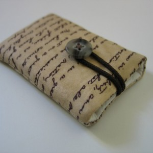 iPod nano case iPod nano sleeve President Abraham Lincoln's Gettysburg Address sepia brown cotton fabric