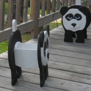 Panda bear planter box