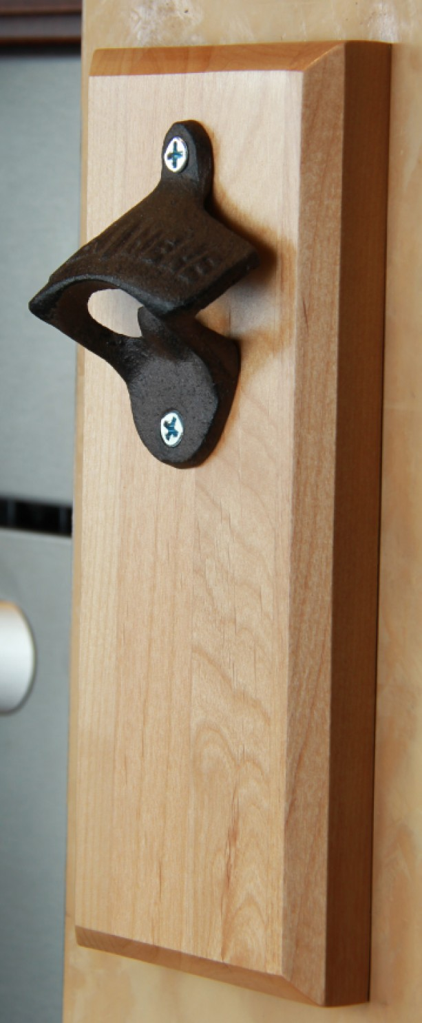 bottle opener magnetic cap catcher personalized aftcra. Black Bedroom Furniture Sets. Home Design Ideas