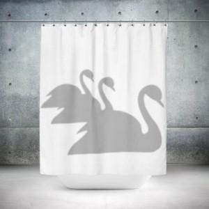 Swans Shower Curtain