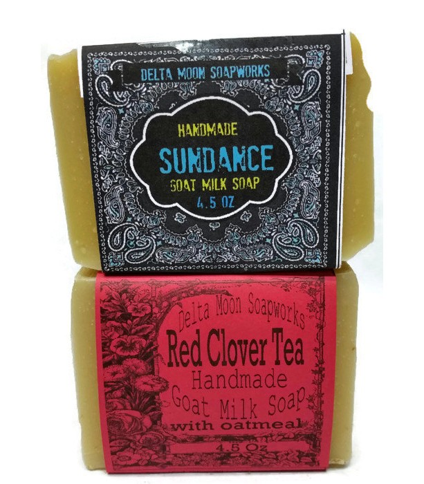Red Clover Tea and Sundance Goat Milk Soaps, natural  soap,Oatmeal Soap, Citrus Soap,cold process soap, handmade soap,shaving soap