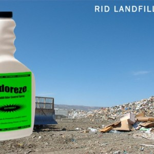 ODOREZE Natural Landfill Odor Control Spray: 32 oz. Concentrate Treats 4,000 Sq. Yards