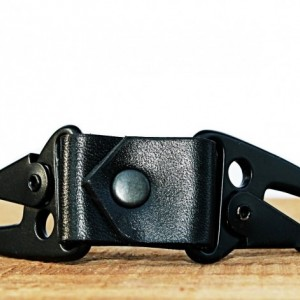 Dual Snap Leather Key Fob