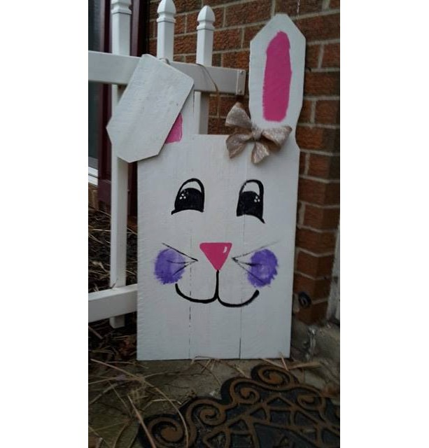 Easter Decoration Easter Bunny Pallet Sign Easter Pallet