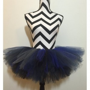 Sparkle Night Sky Navy, Silver, and Black Tutu - Children & Pre-Teen Sized