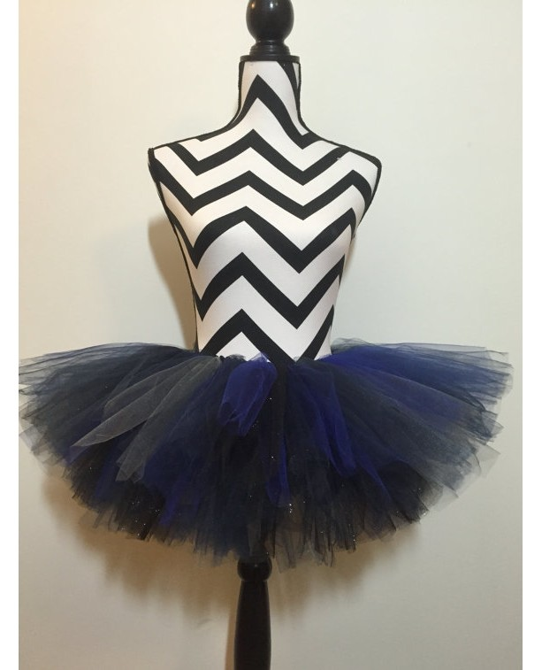 Sparkle Night Sky Navy, Silver, and Black Tutu - New Born & Baby Sized