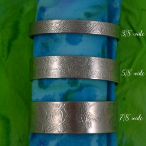 Etched Pewter Cuff Bracelet