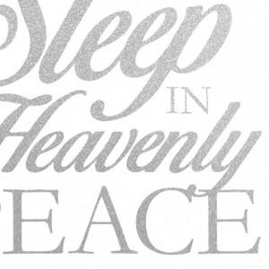Nursery Wall Decor | Girl's Bedroom Art Print | Sleep In Heavenly Peace | Silent Night Lyrics Print | White and Silver Decor