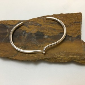 Forged Loop Silver Bracelet-Size 7 to 7.25