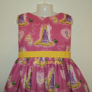 NEW Handmade Disney Tangled Rapunzel Pink Dress Custom Sz 12M-14Yrs