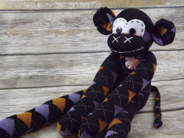 Sock monkey : Jane ~ The original handmade plush animal made by Chiki Monkeys