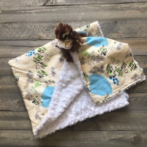 Gender neutral personalized baby boy baby girl blanket/security blanket/baby shower gift/baby coming home gift