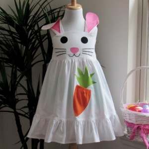 AVA- Girl Easter Bunny Dress