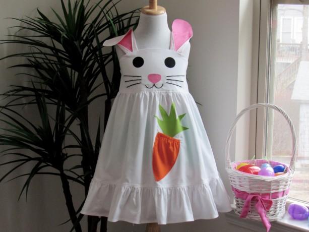 AVA- Girl Easter Bunny Dress