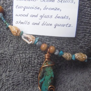 """The Pirate's Mermaid"" Turquoise Necklace"