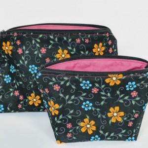 Large Matching Organizer Bag, Travel Bag, Travel Case, Zipper Bag, Flower Bag, Gift under 20