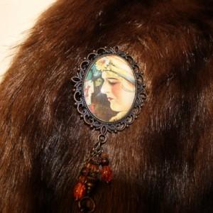 Victorian  magician pin
