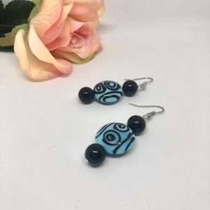 Aztec Circle Drop Earrings