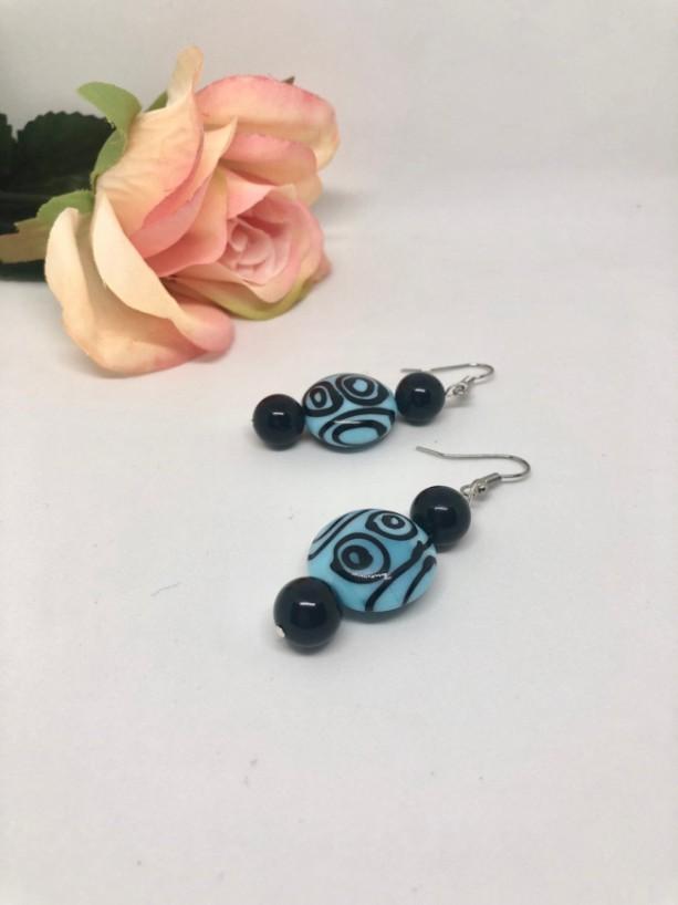 Aztec Circle Drop Earrings