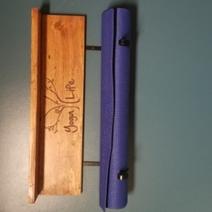 Personalized yoga mat holder - wall mount