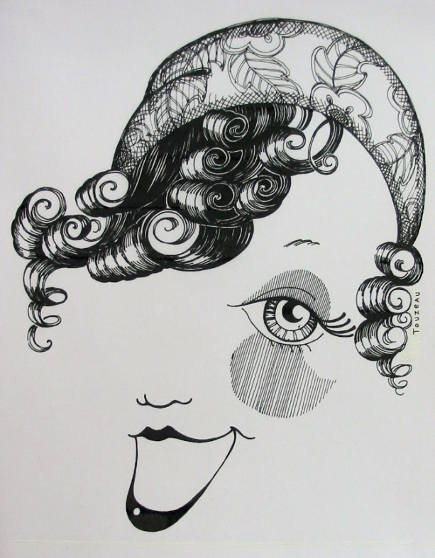 """The Wink""   Pen & Ink Drawing of a Fun, Saucy Face"