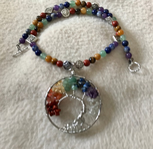 """Peace Offering handmade beaded 18"""" necklace"""