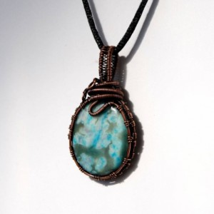 Ocean Jasper Pendant - Lovely soft colors in this Ocean Jasper Necklace will please!