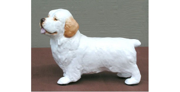 Hevener Collectible Clumber Dog Figurine