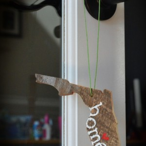Rustic Custom Florida Ornament