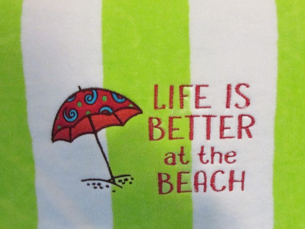 Life is Better Beach Towel