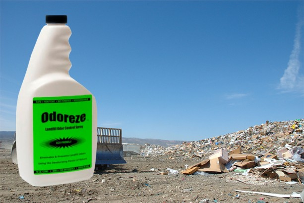 ODOREZE Natural Landfill Odor Control Eco Spray: Treats 2,000 sq. ft.to Destroy Stench