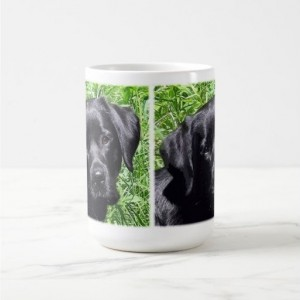 Black Lab Mug 7SJ - Labrador Mug - Black Lab Gifts - Labrador Gifts - Lab Dog - Lab Mom - Labrador Retriever - Black Dog Art - Black Lab Art