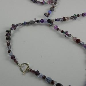 Purple Secrets Long Necklace